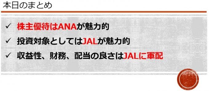 株主優待 JALとANA
