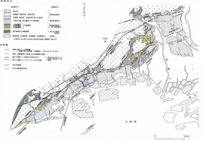 神戸市の地形図