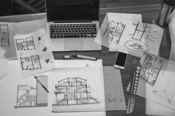 住宅 black-and-white-interior-macbook-drawing-71983