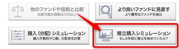 積立投信 モーニングスター シミュ―レーション