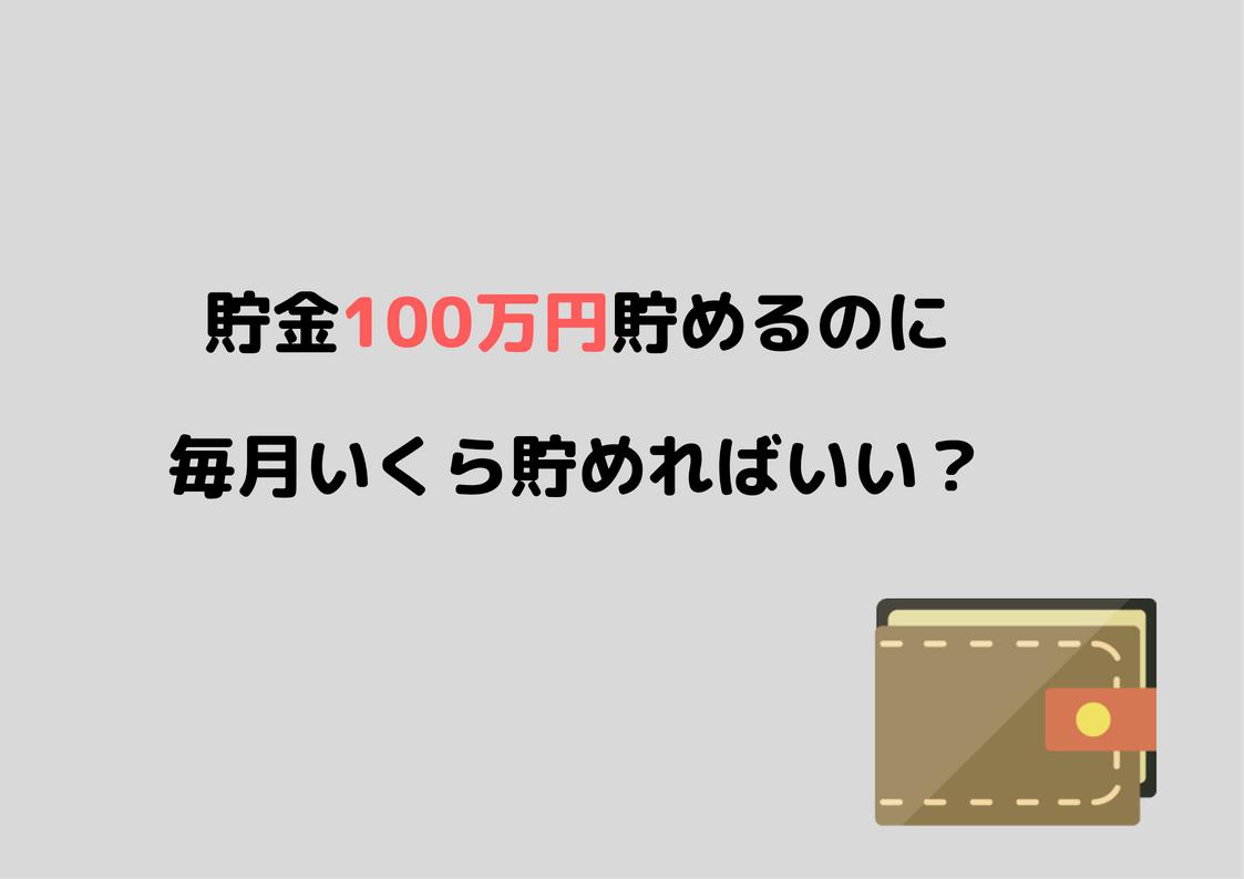 貯金100万円
