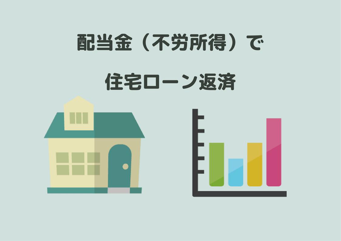 配当金で住宅ローン返済額が見えてきた。年90万円の支払いに対して進捗率75%