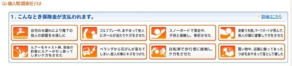 三井住友VISA 個人賠償責任保険7