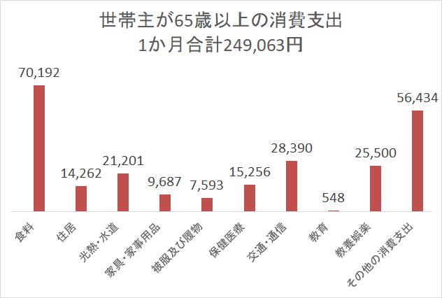 統計 家計調査H28 高齢者