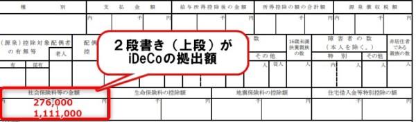 源泉徴収票 iDeCo2