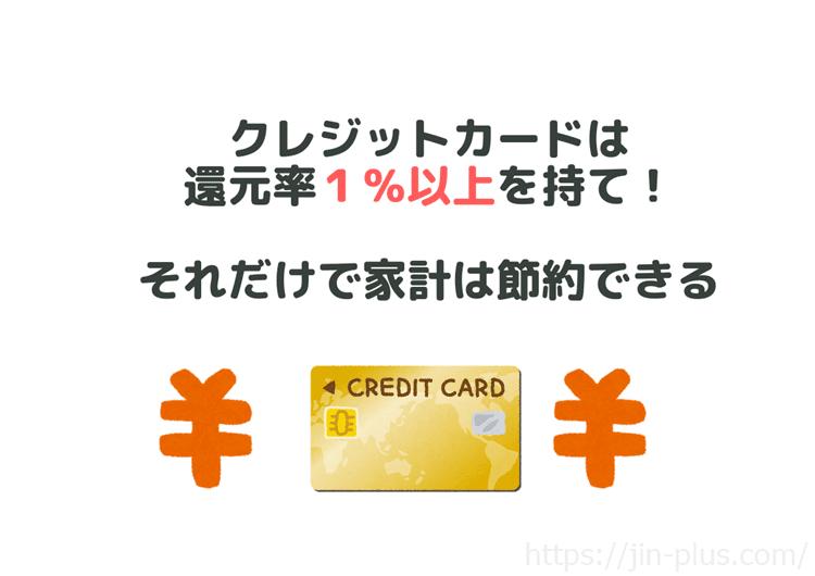 クレジットカード 1%還元