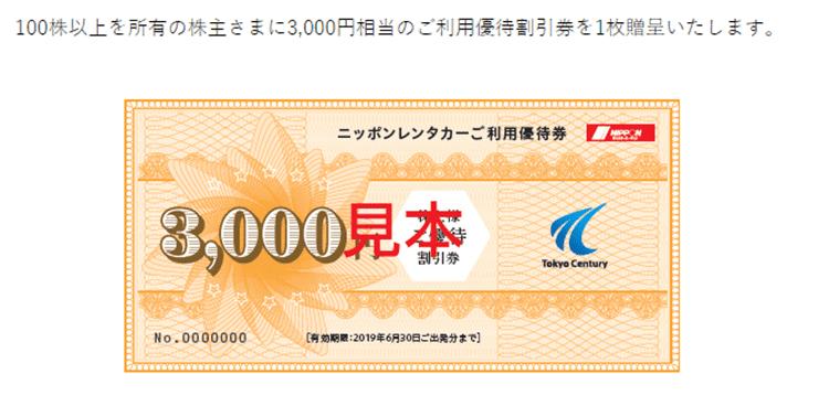 出典)東京センチュリー 株主優待2 同社ホームページより