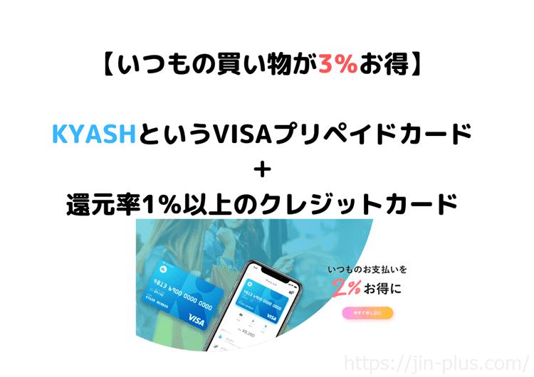 kyashというVISAプリペイドカード
