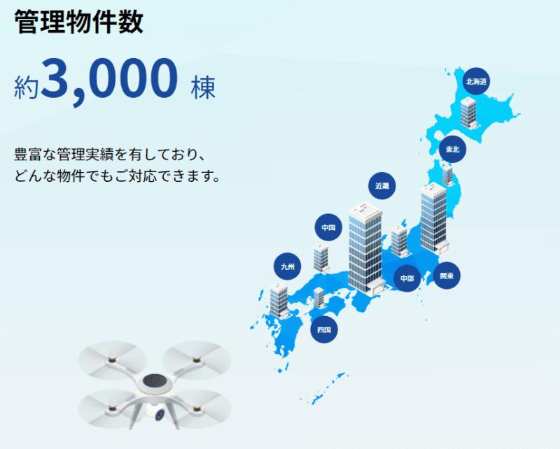 日本管財 管理物件 日本管財HPより