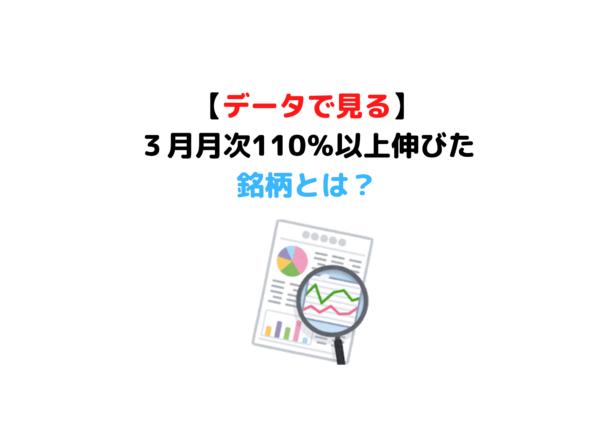 3月月次110%以上 (1)