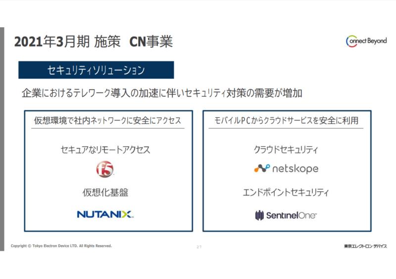 2760東京エレクトロンデバイス CN事業 20年3月期決算説明資料より