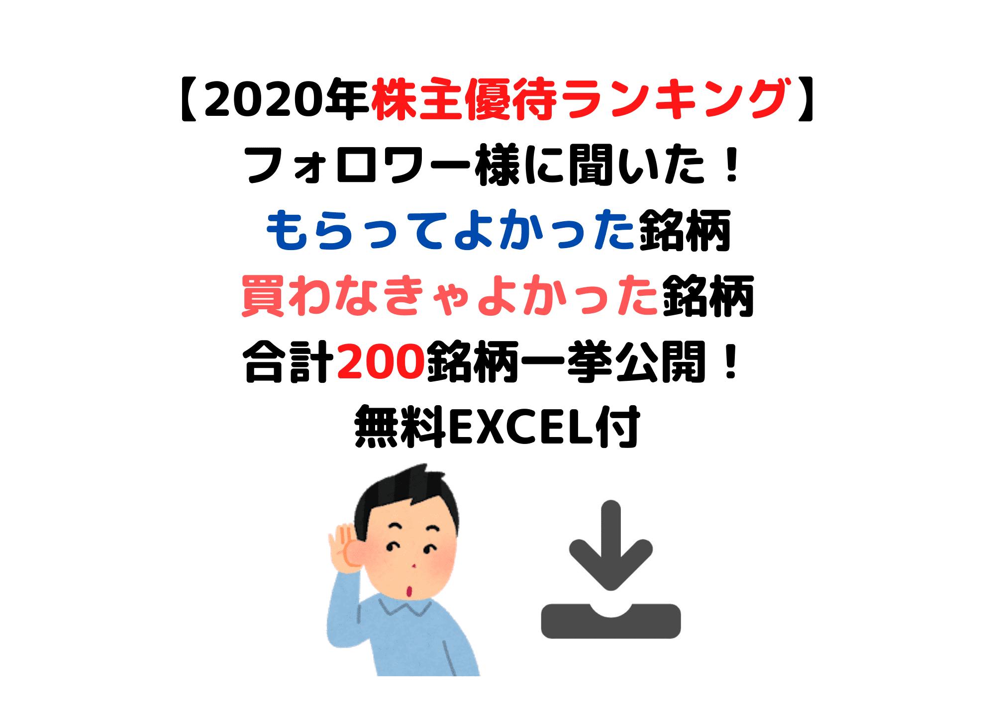 株主優待2020 (1)