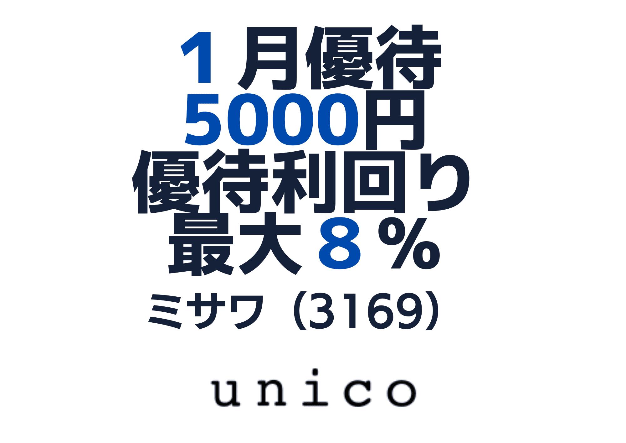 3169 ミサワ 優待